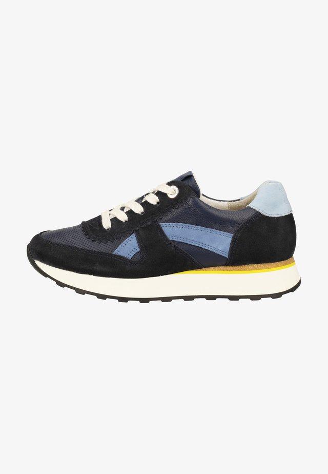Sneakers laag - dunkelblau/hellblau 046