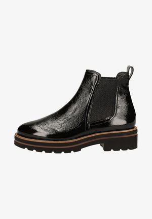 STIEFELETTE - Boots à talons - schwarz/dunkelgrau