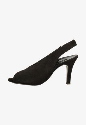 Højhælede peep-toes - black