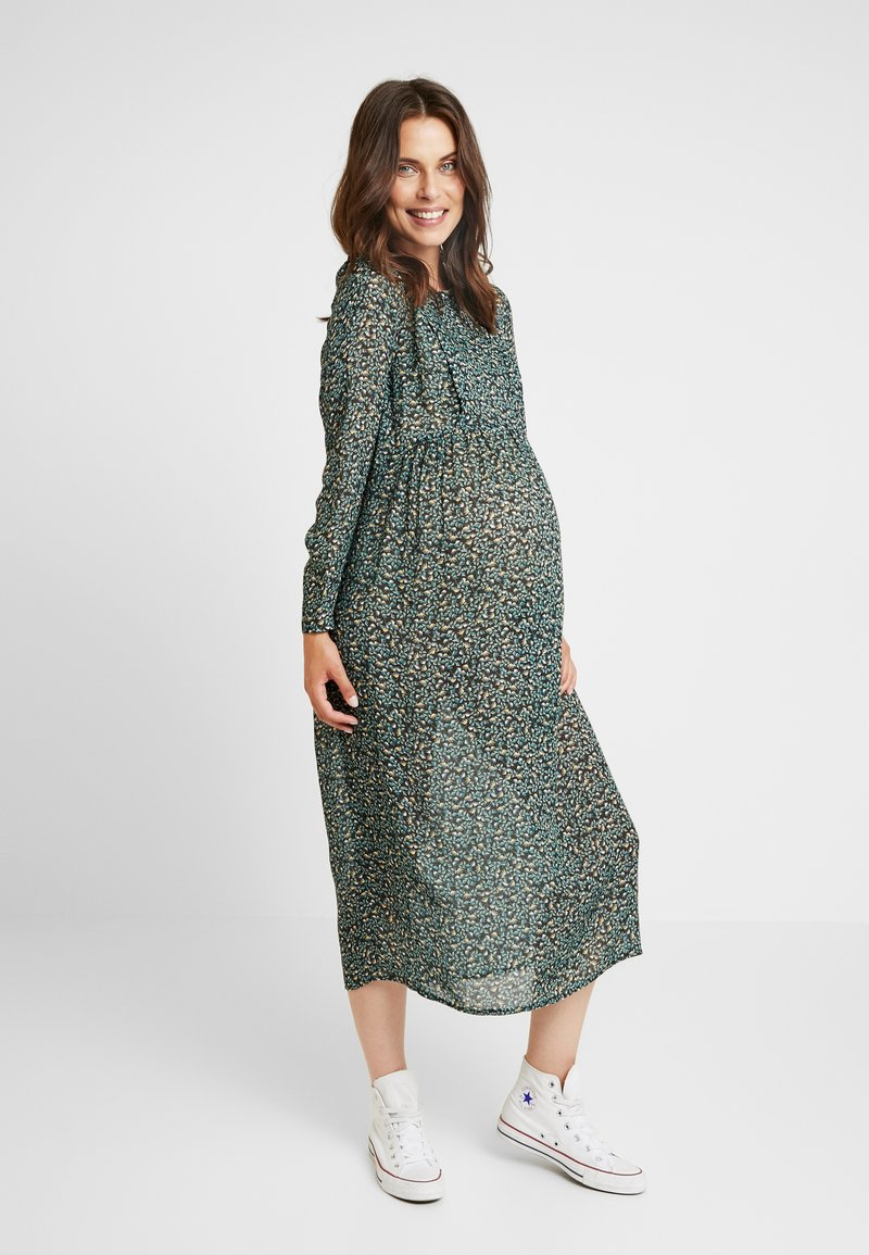 Paula Janz Maternity - DRESS MAGIC GARDEN LONG NURSING - Freizeitkleid - green