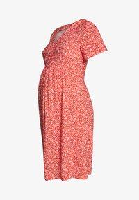 Paula Janz Maternity - DRESS APRIL SHOWER - Day dress - coral - 4