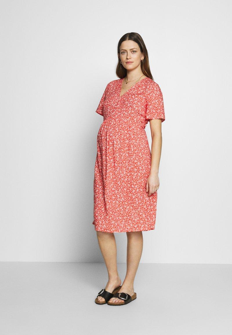 Paula Janz Maternity - DRESS APRIL SHOWER - Day dress - coral