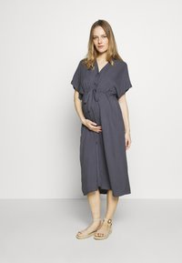 Paula Janz Maternity - DRESS NOSTALGIA - Shirt dress - dusty blue - 0