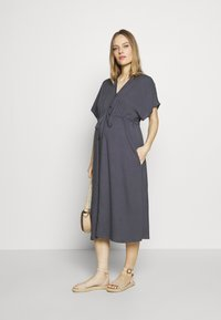 Paula Janz Maternity - DRESS NOSTALGIA - Shirt dress - dusty blue