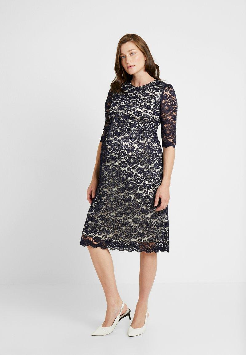 Paula Janz Maternity - DRESS ALICE MIDI - Koktejlové šaty/ šaty na párty - dark blue