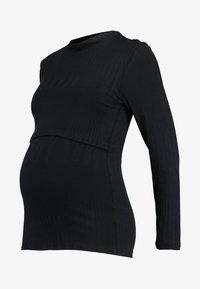 Paula Janz Maternity - LONG SLEEVE NURSING  - T-shirt à manches longues - black - 3