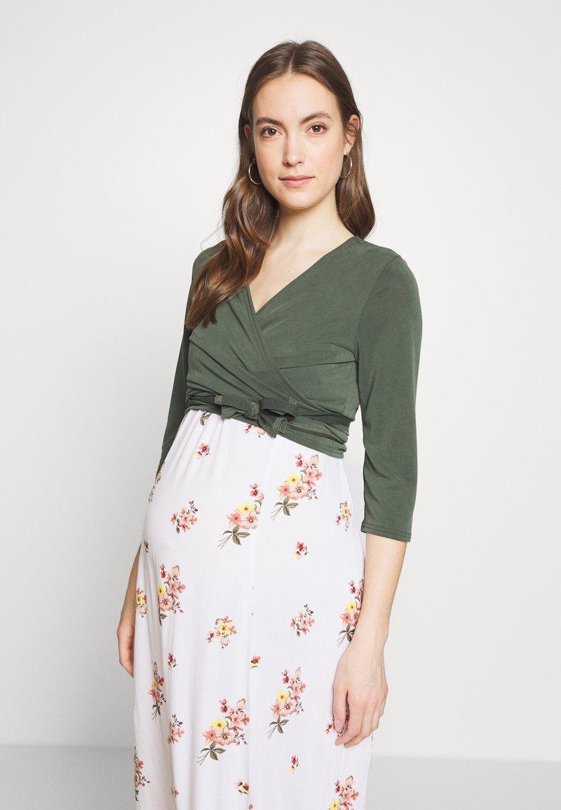 Paula Janz Maternity - WRAP - Long sleeved top - jungle green
