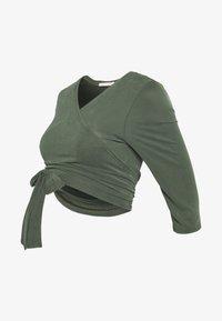 Paula Janz Maternity - WRAP - Long sleeved top - jungle green - 3