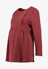 Paula Janz Maternity - NURSING - Top sdlouhým rukávem - berry - 3