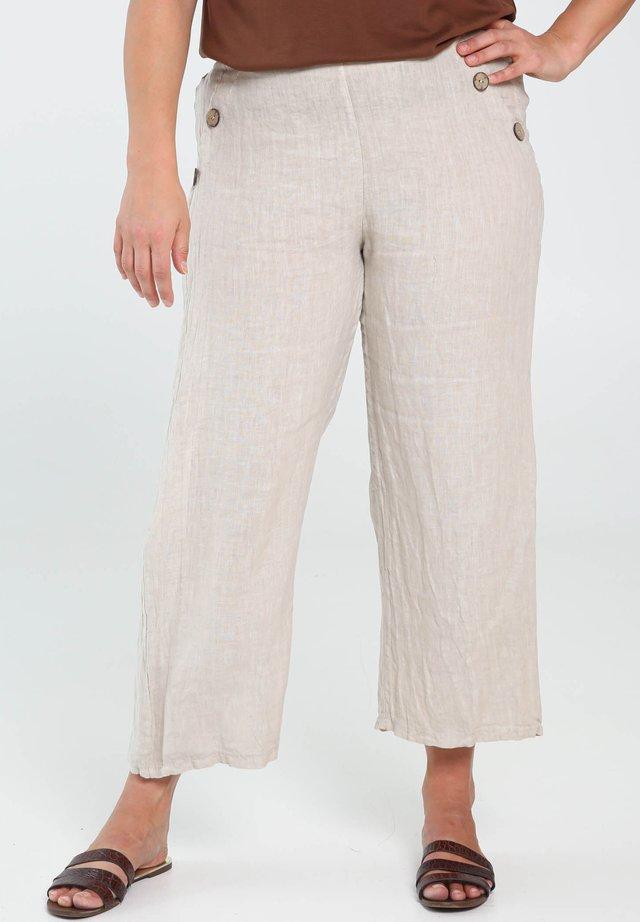 Spodnie materiałowe - natural