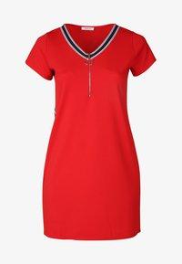 Paprika - MIT SPORTSWEAR-STREIFEN - Korte jurk - red - 2