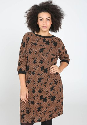 MIT BLUMENDRUCK - Robe d'été - black