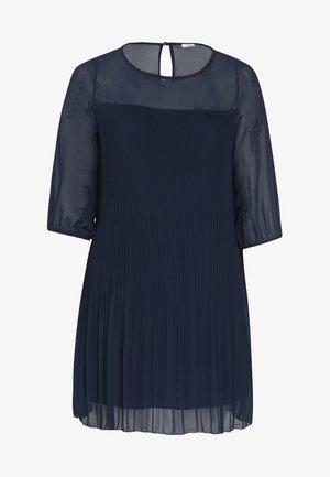 VOILE PLISSÉ - Korte jurk - marine