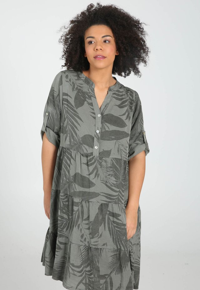 IMPRIMÉ FEUILLAGES - Sukienka koszulowa - grey