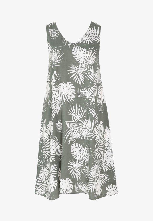 MIT BLATTMUSTER-PRINT - Korte jurk - khaki