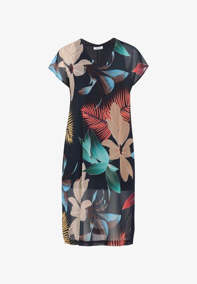 MIT BLATTMUSTER-PRINT - Korte jurk - marine