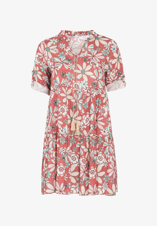 MIT BLUMENAUFDRUCK - Sukienka letnia - pink
