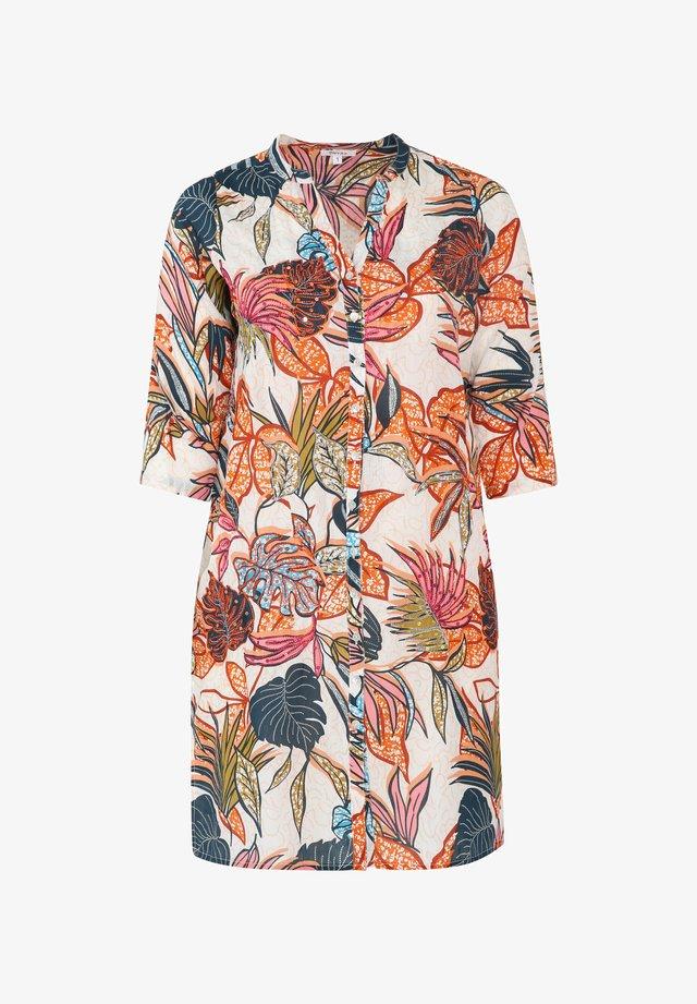 MIT TROPISCHEN BLUMEN - Shirt dress - multicolor