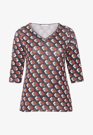MIT GRAFIK-PRINT - T-shirt à manches longues - orange