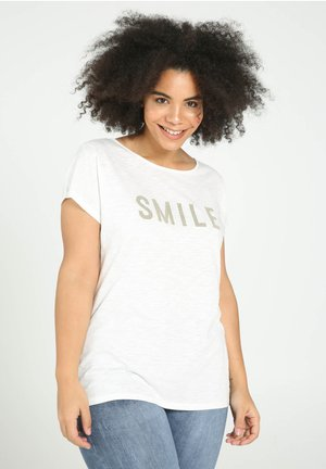 SMILE - T-shirts print - beige