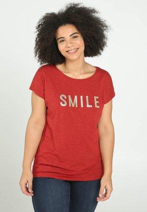 SMILE - T-shirt con stampa - orange