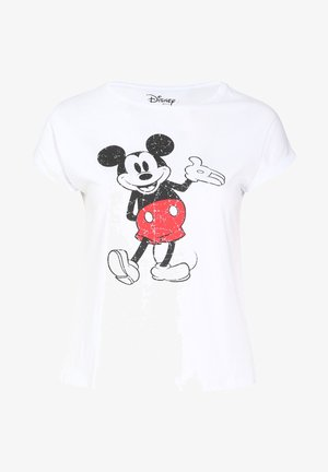 MIT MICKY-MAUS - T-shirt z nadrukiem - white