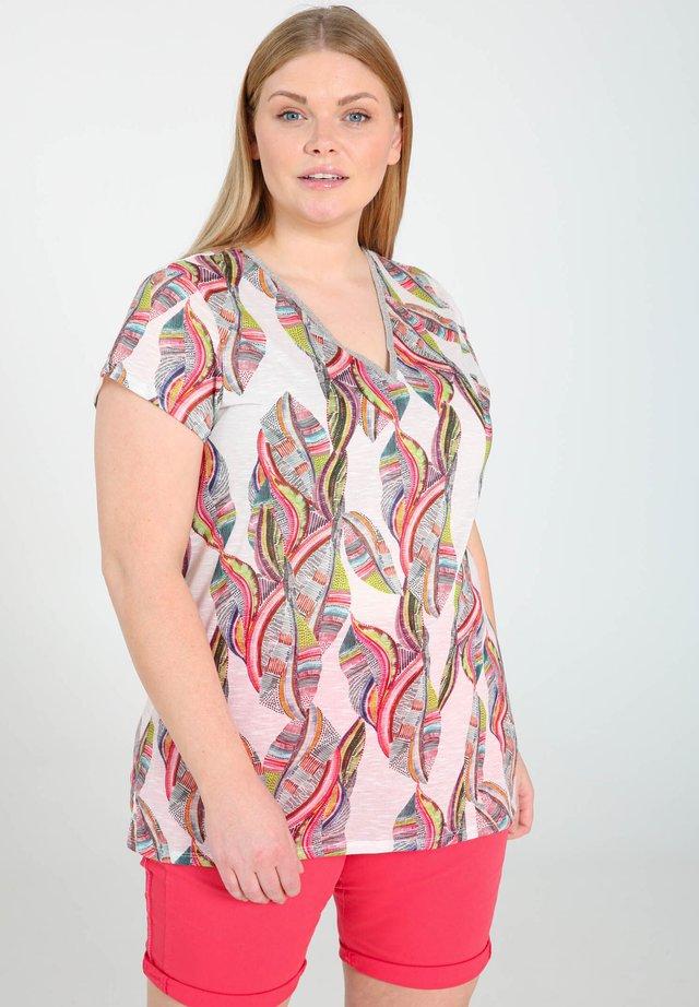 MIT FARBIGEM ETHNO-PRINT - T-shirt imprimé - multicolor
