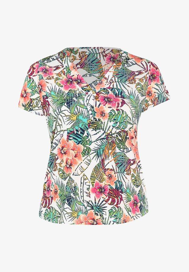 MIT TROPIC-PRINT AUS KÜHLEM MATERIAL - T-shirt imprimé - multicolor