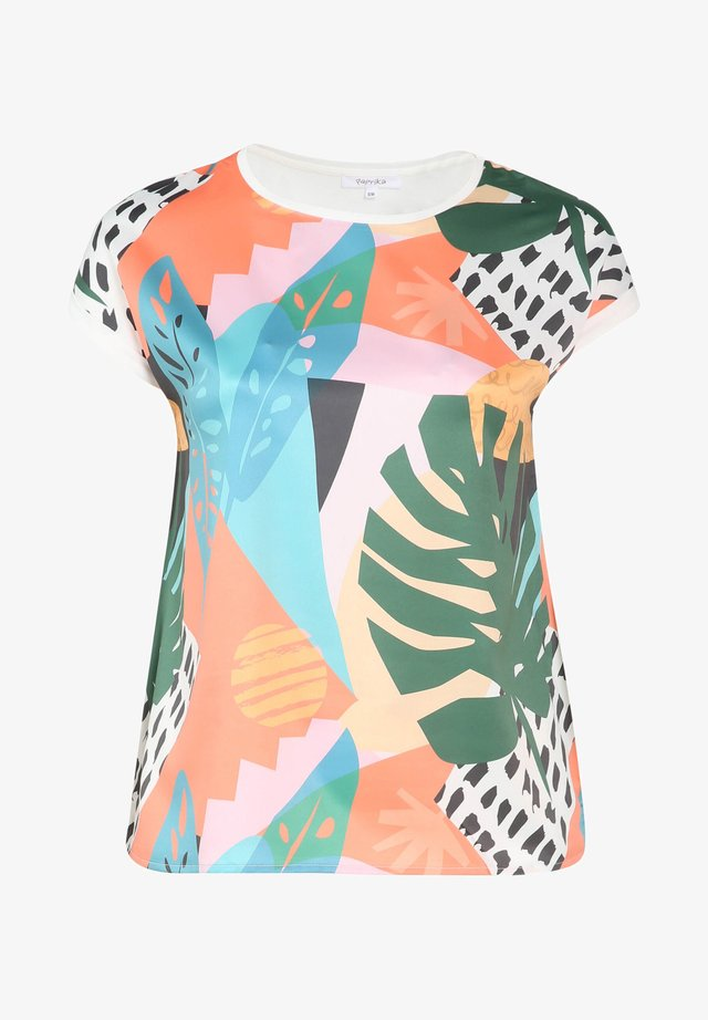 MIT COLOUR-BLOCKING UND EXOTISCHEM PRINT - T-shirt imprimé - multicolor