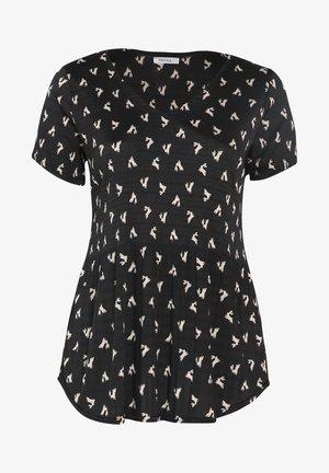 MIT PASSENDER MASKE - T-shirt con stampa - black