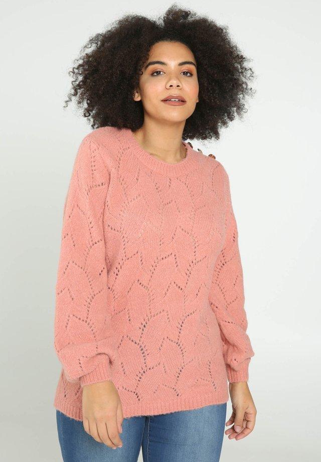 MIT AJOURMUSTER  - Neule - pink