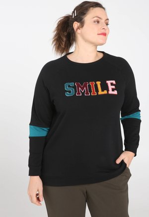 SMILE - Sweater - black