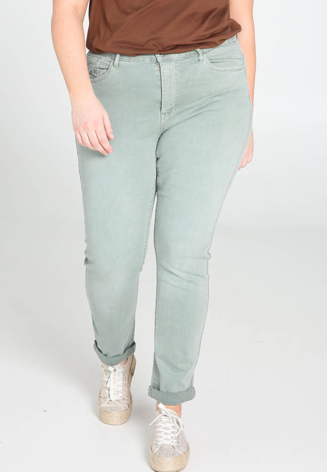 Jeansy Slim Fit - green