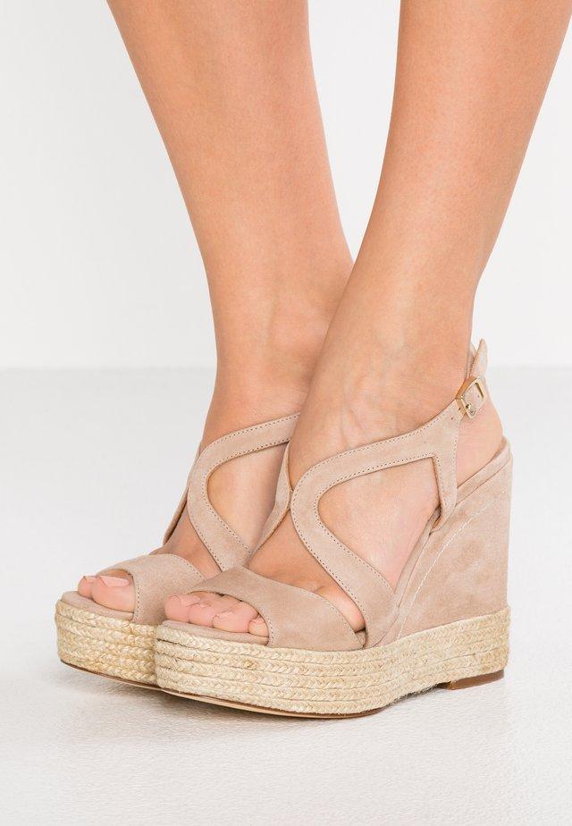 TELMA - Sandály na vysokém podpatku - taupe