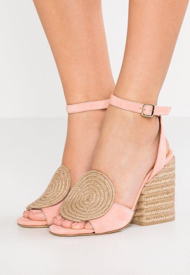 EMI - Sandales à talons hauts - pink/natural