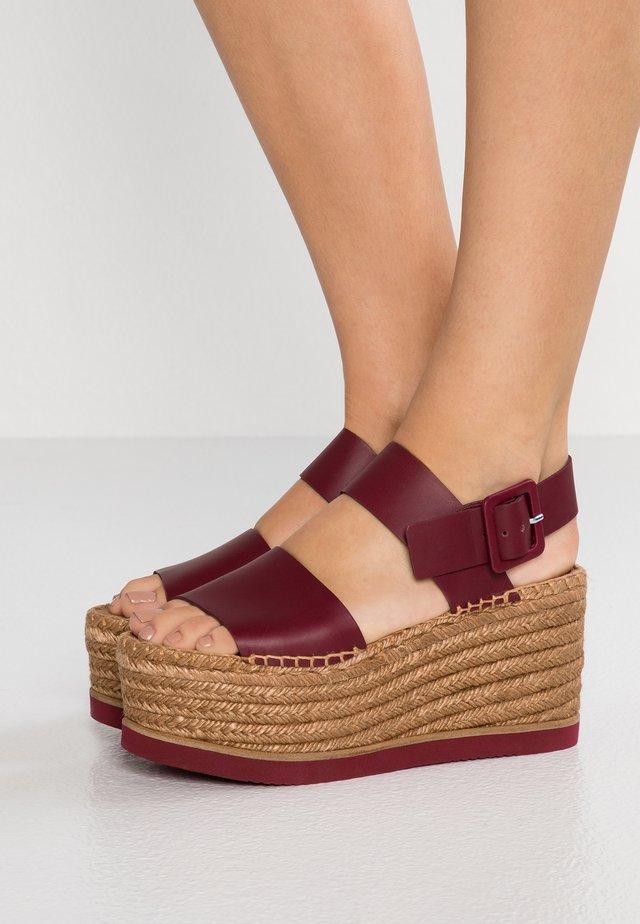 MATSUKO - Sandalen met hoge hak - burgundy