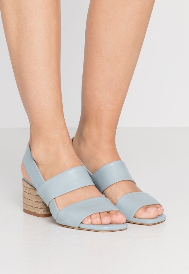 CADIE MILOS NATURAL - Sandals - aqua