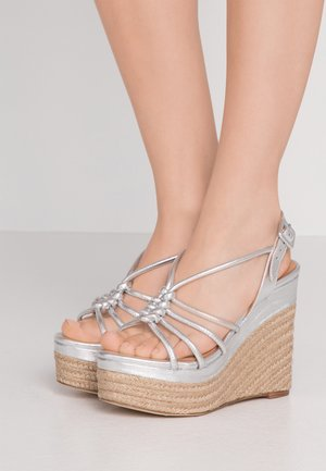 ARENA ZAMORA - High heeled sandals - silver