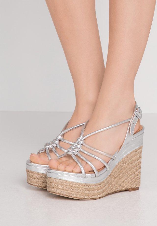 ARENA ZAMORA - Højhælede sandaletter / Højhælede sandaler - silver