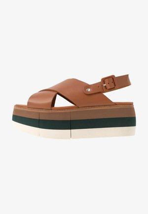 ECHO  - Platform sandals - cognac