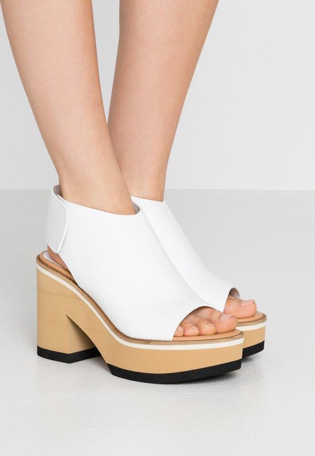 ELLEN  - Sandály na vysokém podpatku - white