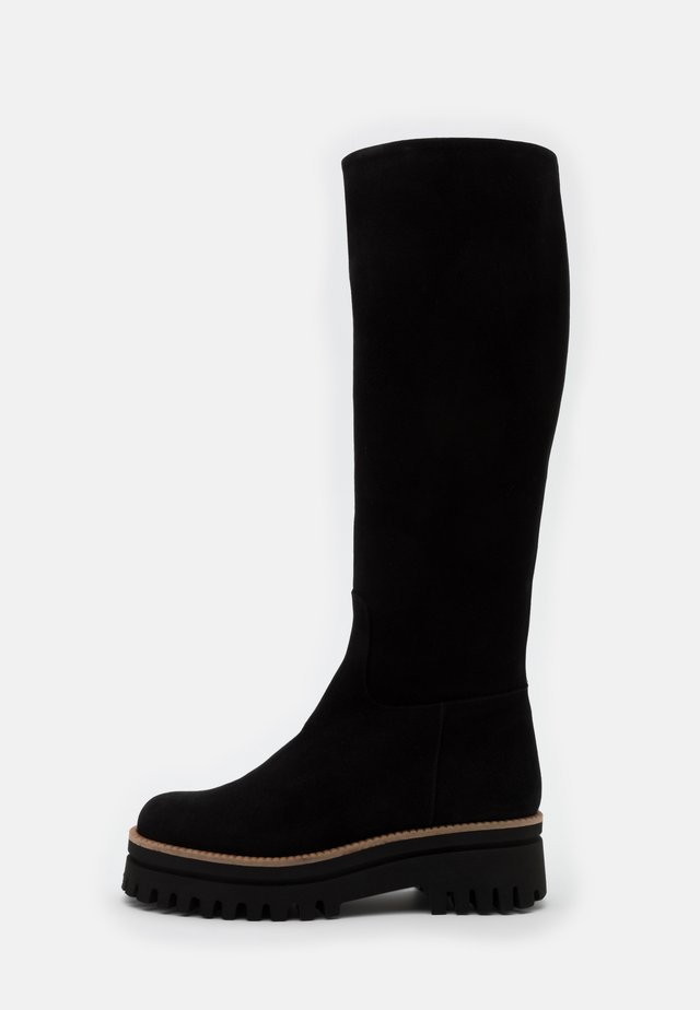 CANNES - Plateaustiefel - black