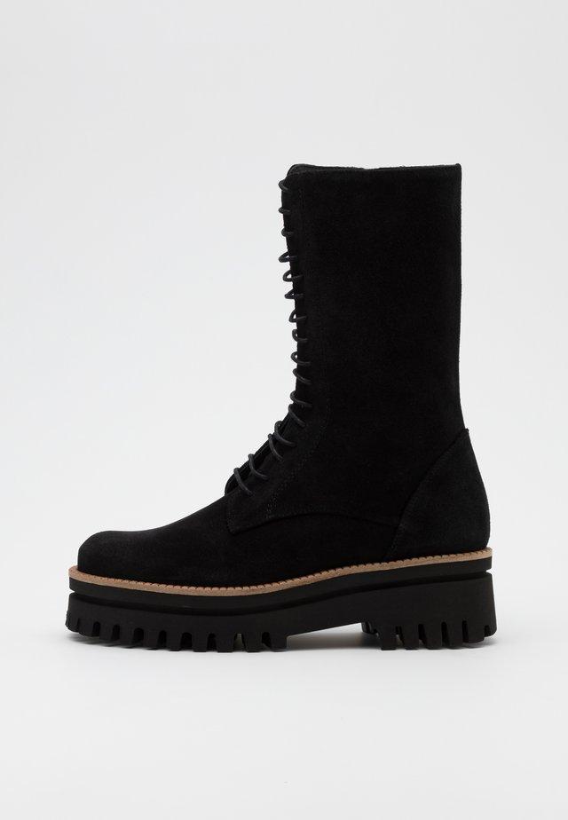 LISBOA - Snørestøvletter - black
