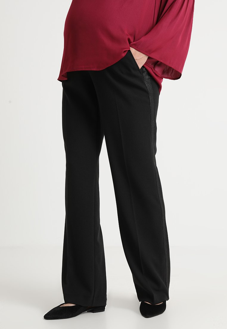 Paulina - DOUBLE TEAM TWO - Broek - black