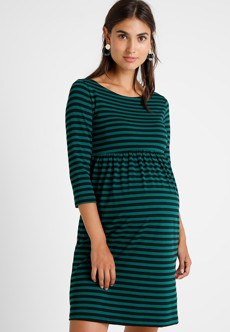 Paulina - PLAY GIRL - Jersey dress - black/green