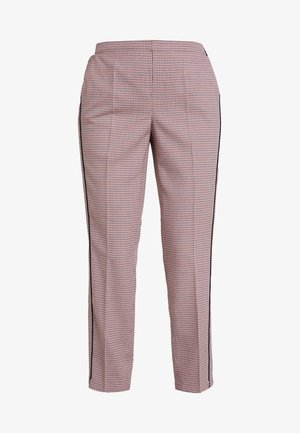 EDIRA CHECK - Trousers - paradise red