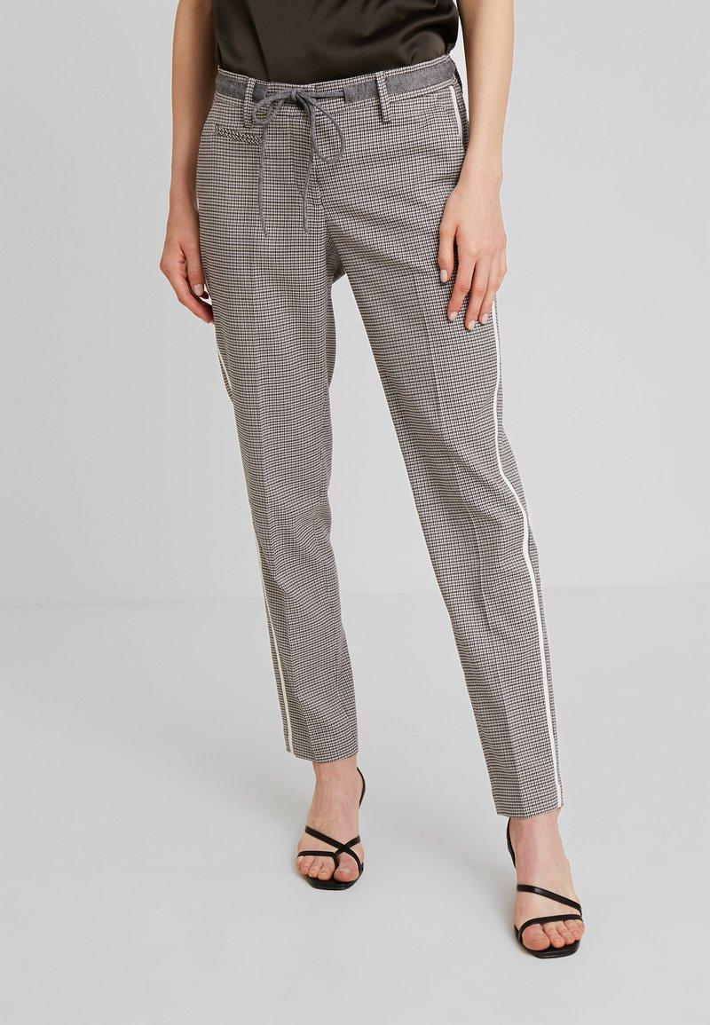 Opus - MORIEL PEPITA - Pantaloni - iron grey melange