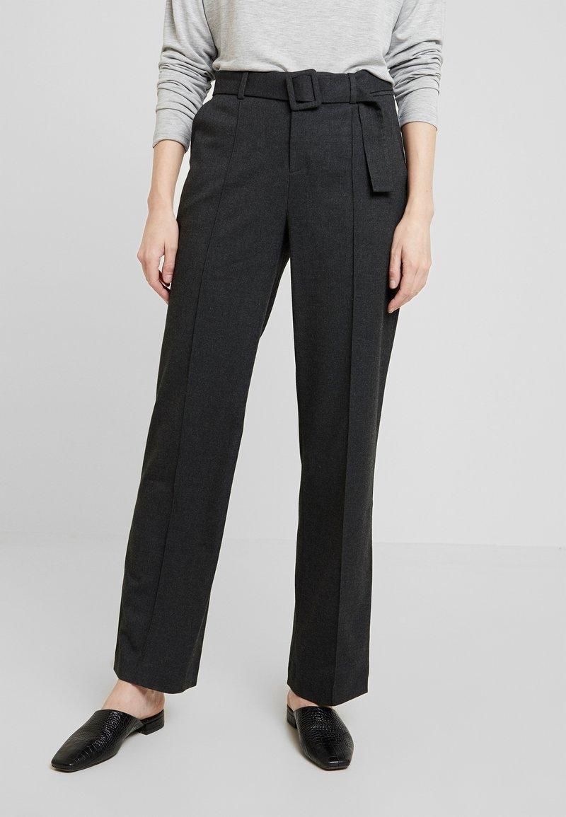 Opus - MALINA - Trousers - slate grey melange