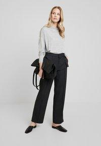 Opus - MALINA - Trousers - slate grey melange - 1