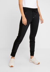Opus - LEVINA - Spodnie materiałowe - black - 0